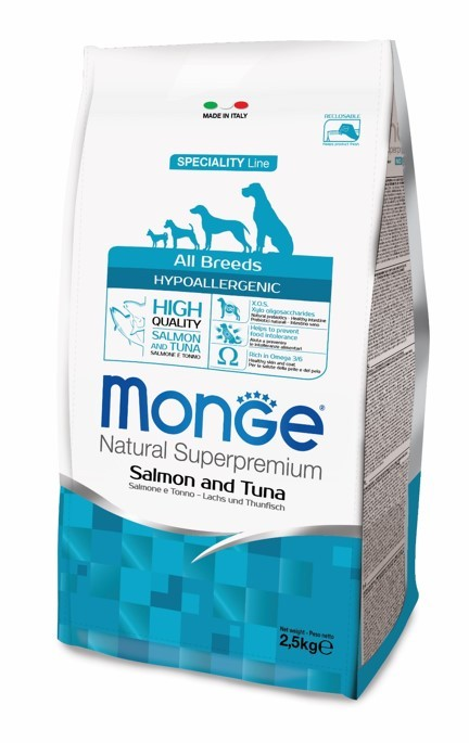 Monge SPECIALITY LINE ADULT HYPOALLERGENIC SALMONE & TUNA