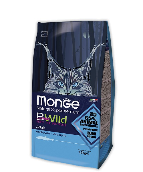 MONGE CAT BWILD ADULT ANCHOVIES