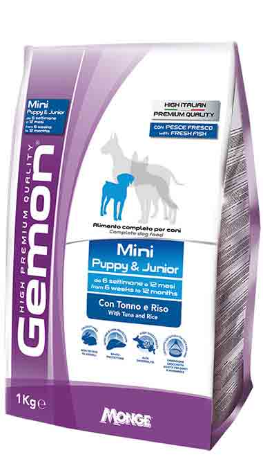 Gemon Mini Puppy & Junior with tuna & rice