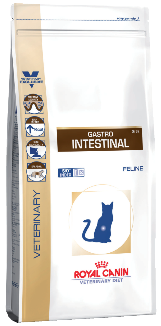 Корм royal canin 2 кг gastro intestinal